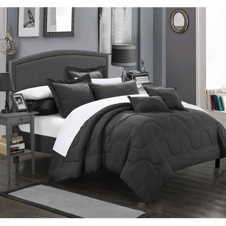 Oval Bed Ensemble (Chic Home 11-Piece Direllei Complete Bedding Ensemble Comforter Set)