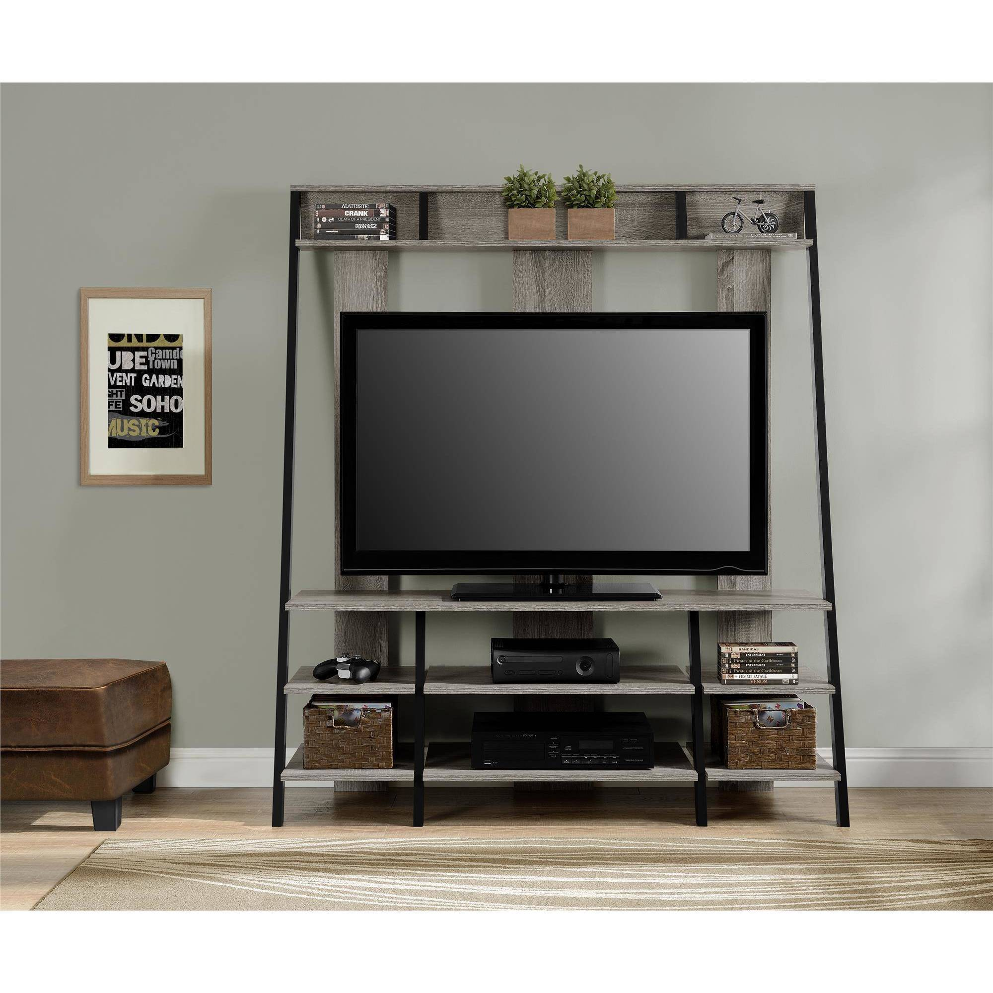 Ameriwood Home Dunnington Ladder Style Home Entertainment Center
