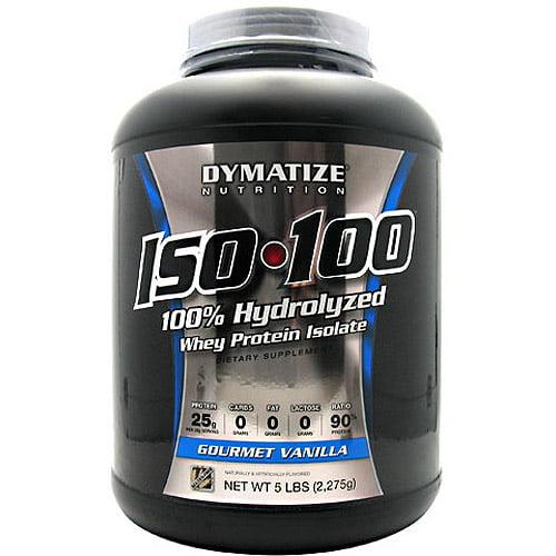 Dymatize ISO-100 Hydrolyzed 100% Whey Protein Isolate - Gourmet Vanilla - 5 LBS