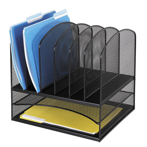 Safco Products Company Mesh Desk Organizer, Eight Sections, 13.5'' Wide