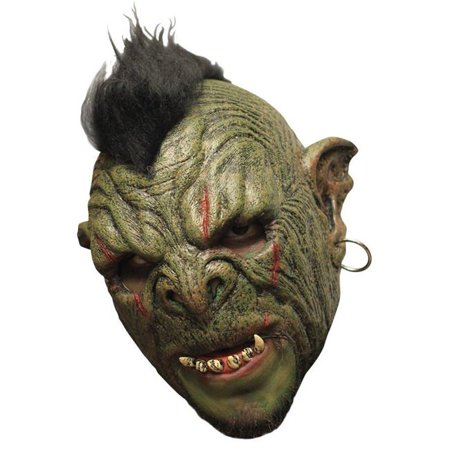 Orc Mok Deluxe Ghosts Chinless Latex Mask, Multicolor](Orc Halloween Masks)