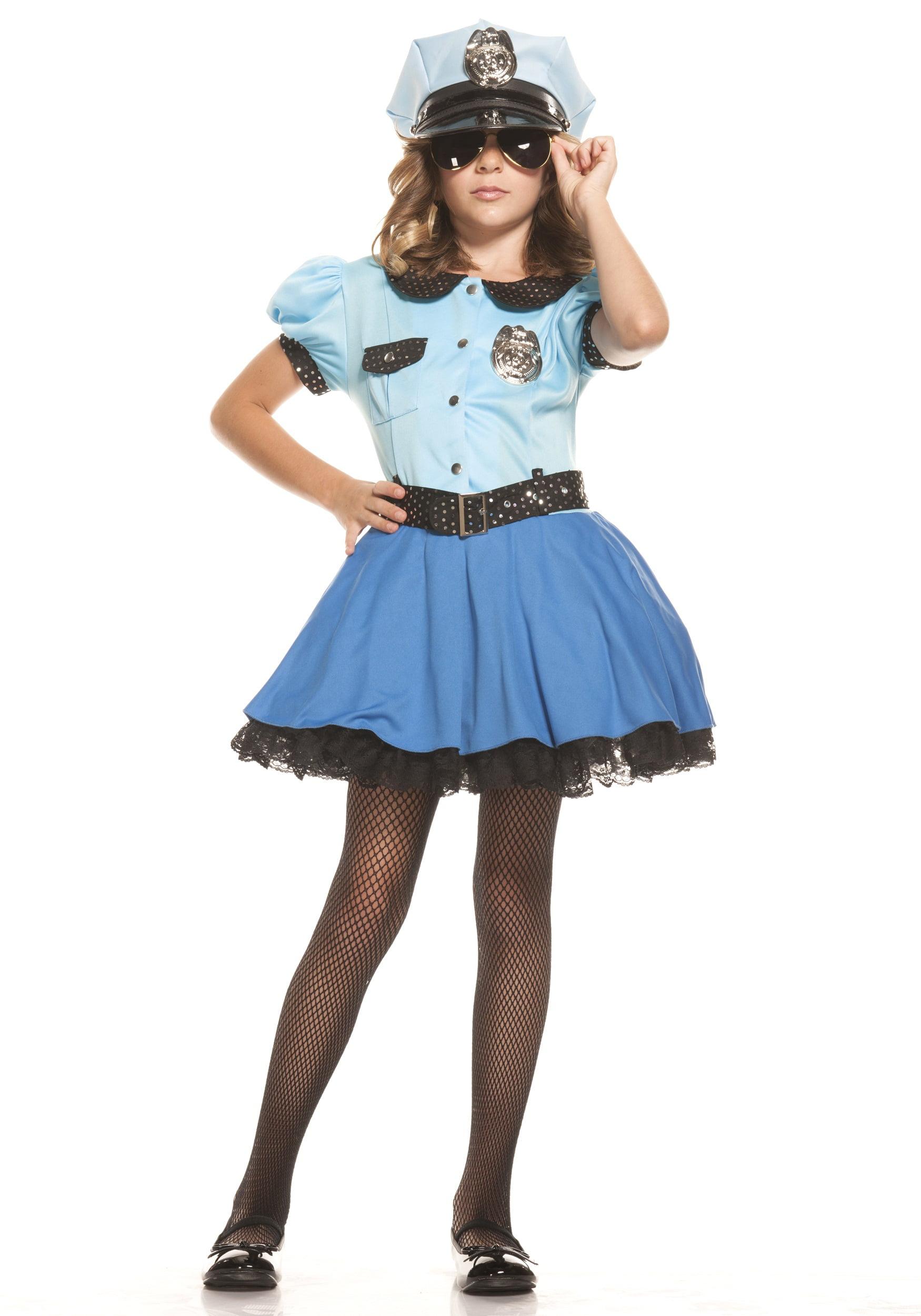 Girls Police Uniform Costume by