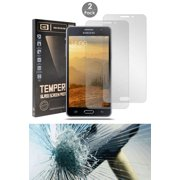 ON5 TEMPERED GLASS, 2X CLEAR HARD TEMPERED GLASS SCREEN PROTECTOR CRACK SAVER FOR SAMSUNG GALAXY ON5 G5500 (T-Mobile, MetroPCS, Unlocked)