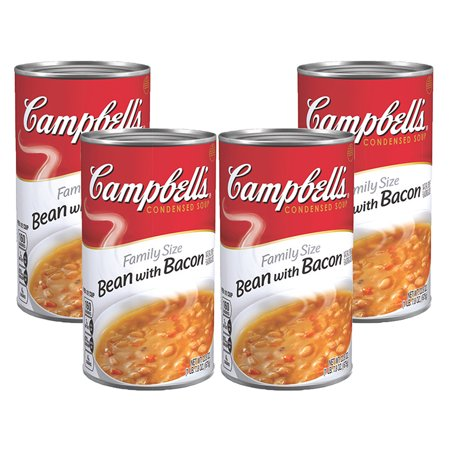 (3 Pack) Campbell's Condensed Family Size Bean with Bacon Soup, 23 oz. (Best Bean Soup Ever)