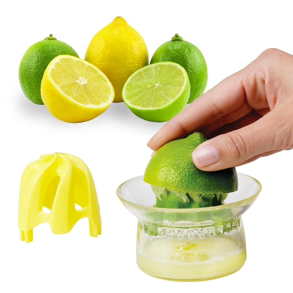 Mini Citrus Juicer Chef'n Vibe Strains Seeds Pulp Measurements On Cup 2 Reamers