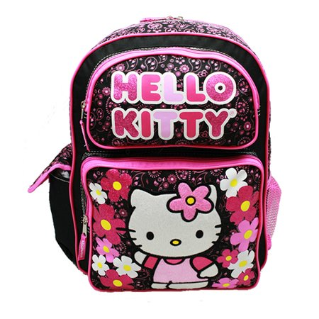 Backpack - - Flowers Black (Large School Bag) New 82599