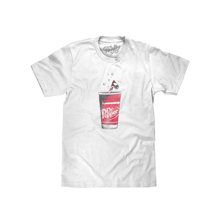 Tee Luv - Tee Luv Dr Pepper T-Shirt - Distressed Dr. Pepper Cup Graphic  Shirt (Small) - Walmart.com 9191d0587