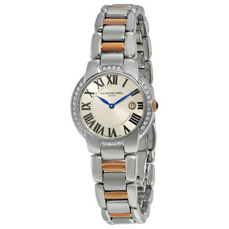 Raymond Weil Diamond Wrist Watch - Raymond Weil Jasmine Diamond Silver Dial Ladies Watch 5229-S5S-00659