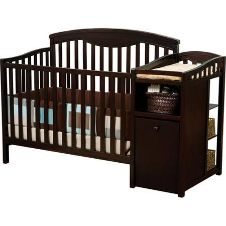delta children cambridge 4 in 1 crib changer combo espresso. Black Bedroom Furniture Sets. Home Design Ideas