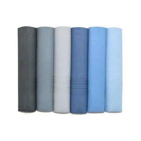 Size one size Men's Cotton Multi-Color Dress Handkerchief Set (Pack of 6), Multi-color Allen Edmonds Men Dress