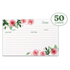 Jot & Mark Recipe Cards Floral Double Sided 4x6 inch, 50 Count (Pink Peonies)
