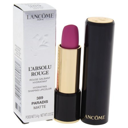 LAbsolu Rouge Hydrating Shaping Lipcolor - # 389 Paradis - Matte by Lancome for Women - 0.12 oz Lips