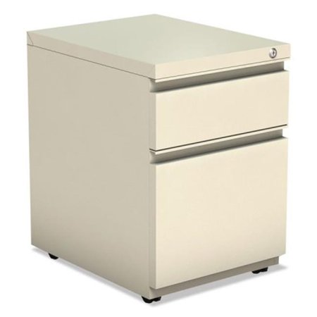 ALE Two-Drawer Metal Pedestal File with Full Length Pull, Putty Full Pull Utility Drawer