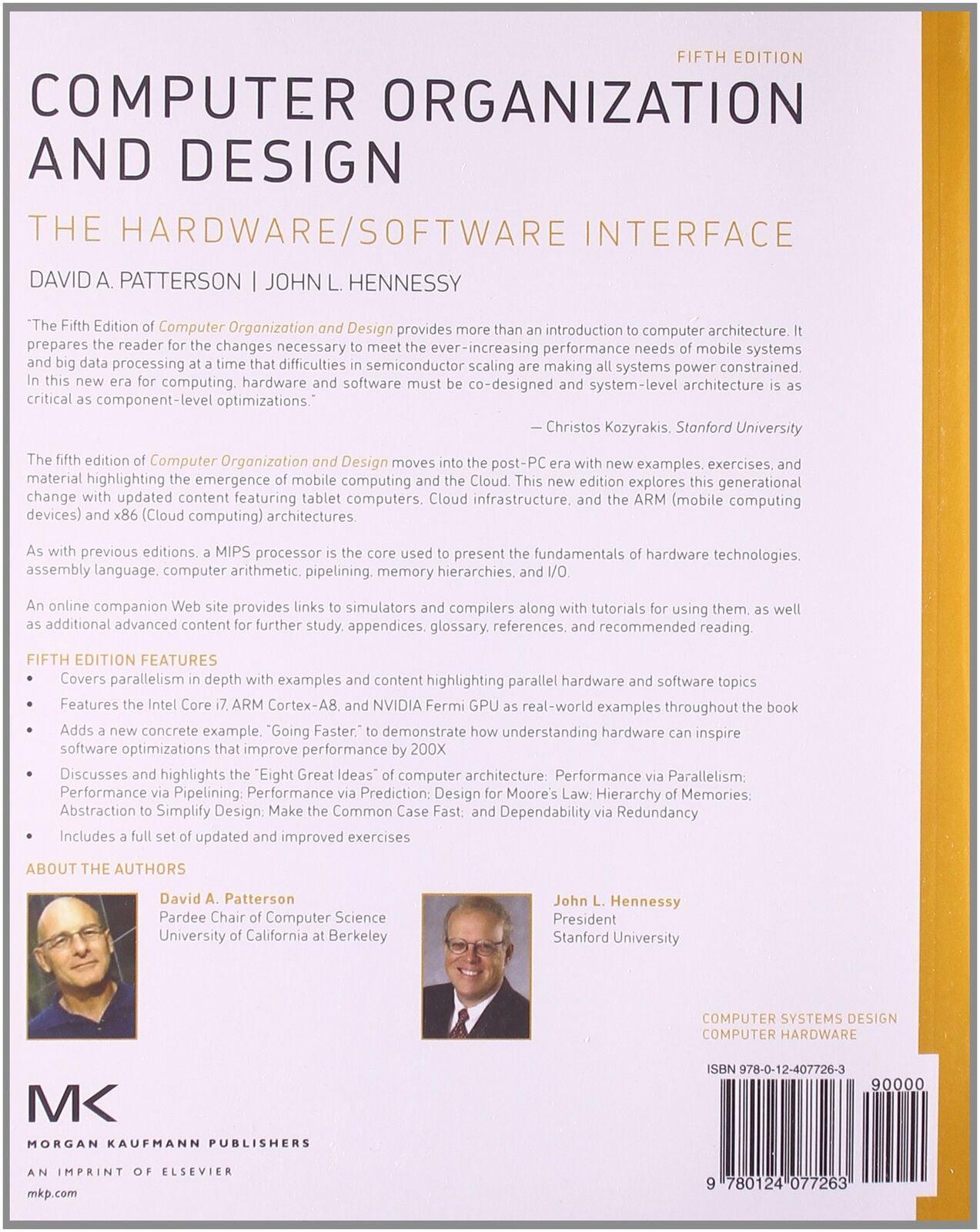 Computer Organization And Design Mips Edition The Hardware Software Interface Walmart Com Walmart Com