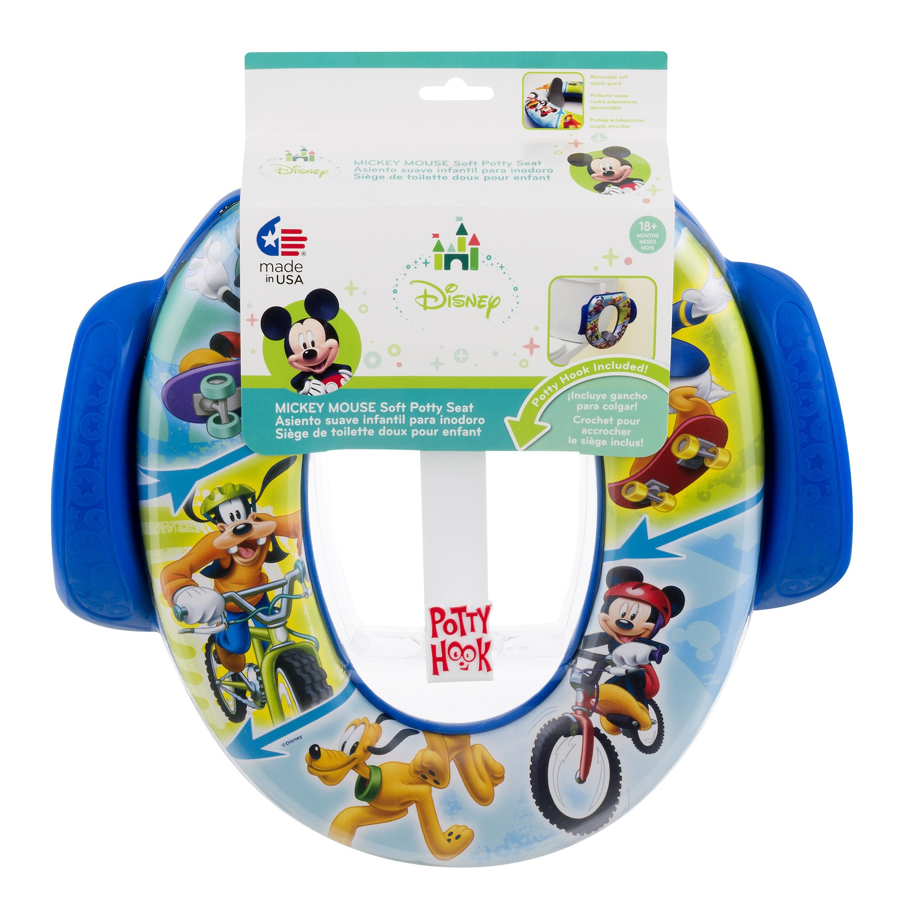 "Disney Mickey Mouse ""Let's Ride"" Soft Potty Seat with Hook (color and pattern may vary)"