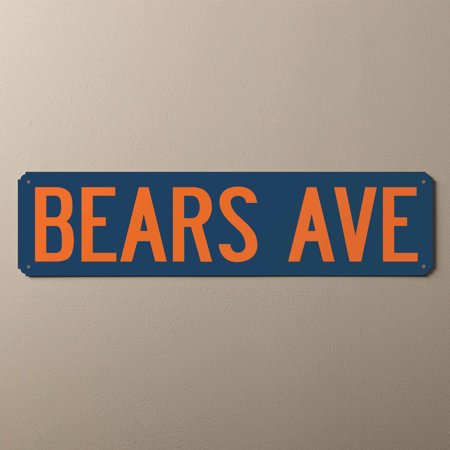 Personalized You Name It Street Sign, Navy and Orange