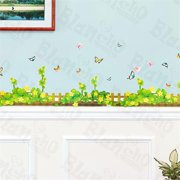 HL-9801 Spring Fence - X-Large Wall Decals Stickers Appliques Home Decor