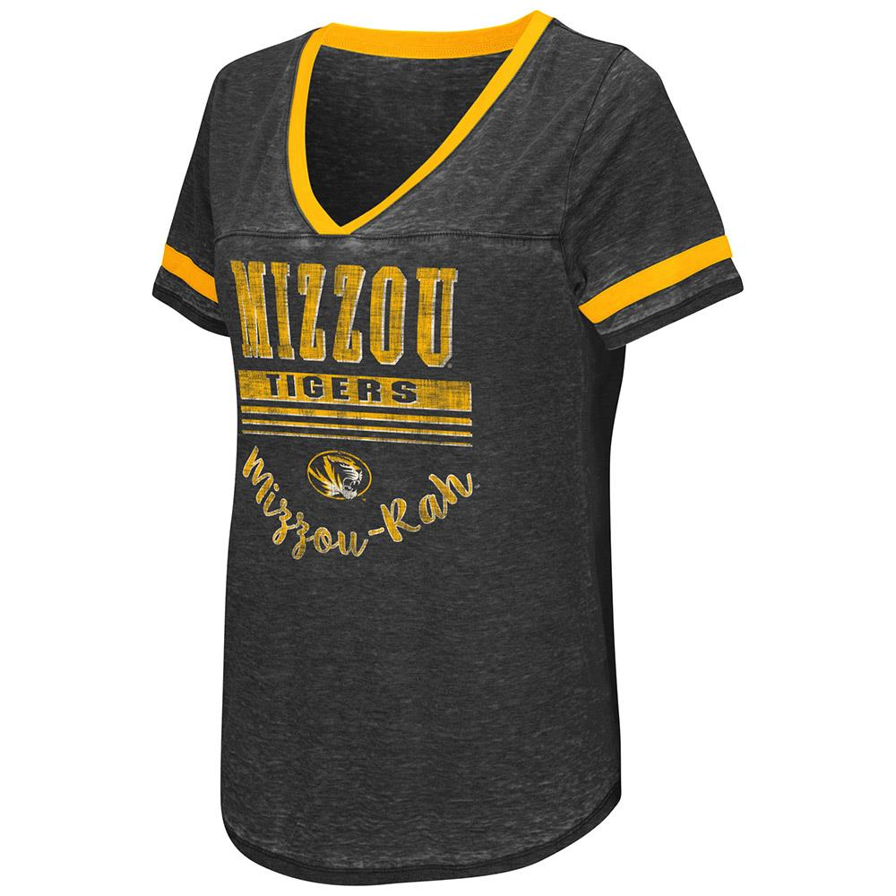 Womens Missouri Tigers Short Sleeve Tee Shirt