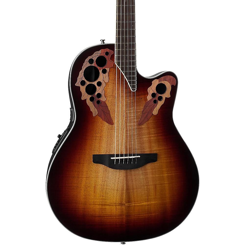 Ovation CE48P Celebrity Elite Plus Acoustic-Electric Guitar (Koa Burst)