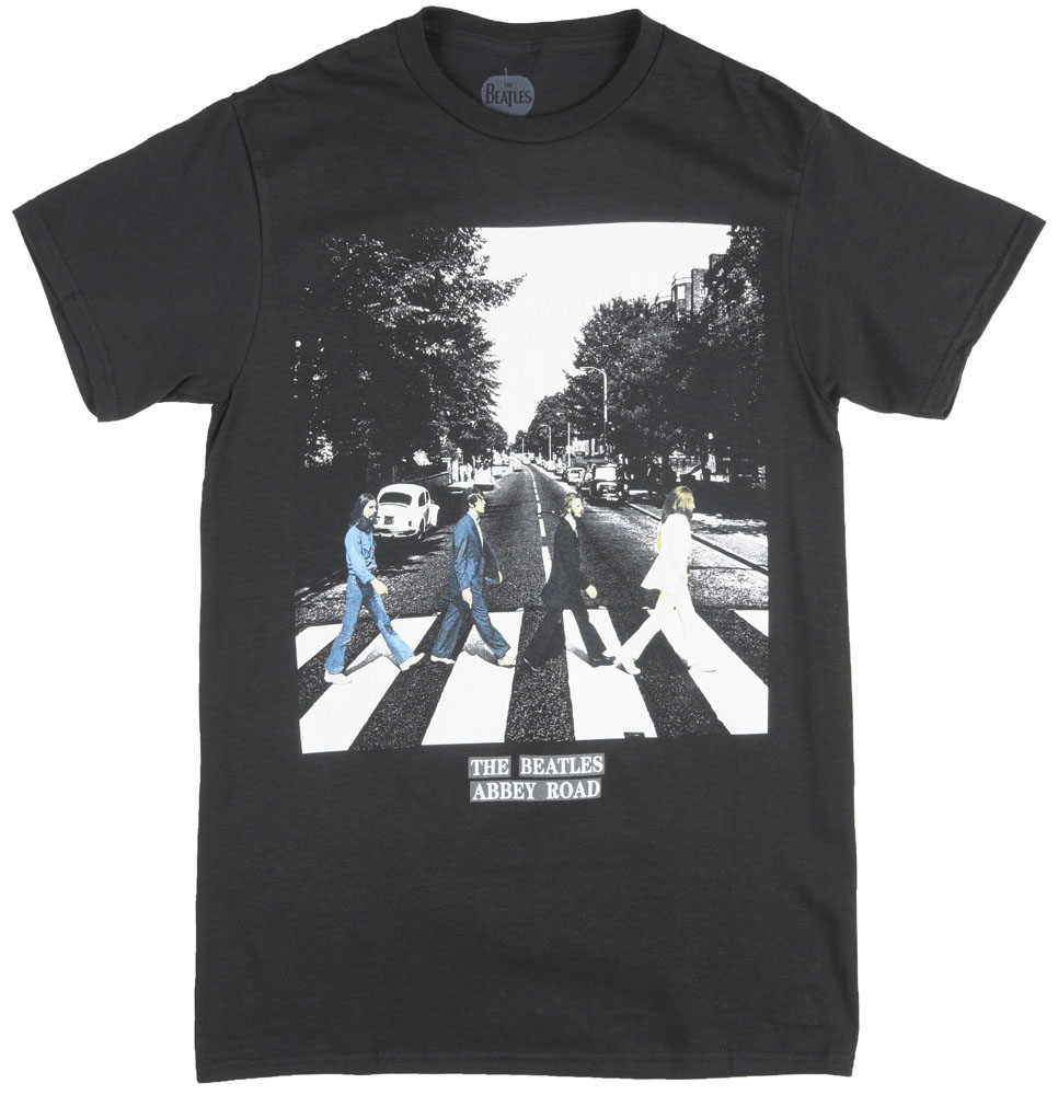 Beatles Abbey Road Regular Fit T-Shirt Album Band Music Tee Top Black Shirt Mens by THE BEATLES