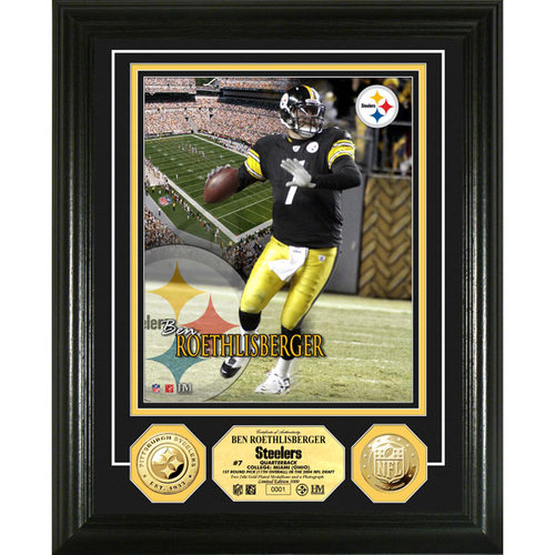 NFL - Ben Roethlisberger Pittsburgh Steelers 24KT Gold Coin Photo Mint
