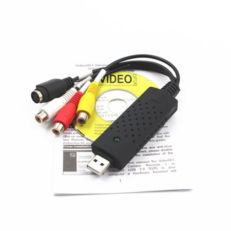 USB Video Audio Capture Card HD Video Converter Adapter Edit Acquisition Video for Camcorder DVD PC