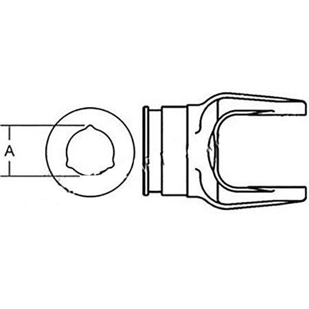 279514 New Ford / New Holland Disc Mower Inner Tube Yoke 442 462 465 616 (New Holland 617 Disc Mower Service Manual)