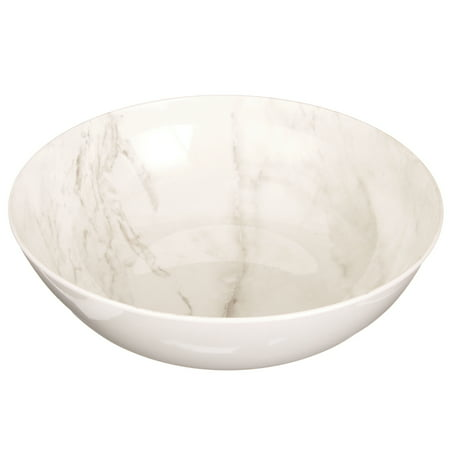 Better Homes & Gardens Outdoor Melamine Serving Bowls, Marble, 4 Count ()