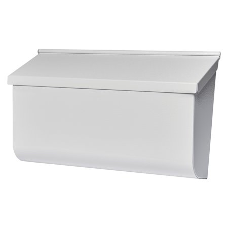 Gibraltar Mailboxes Woodlands Medium Capacity Galvanized Steel White Wall Mount Mailbox, (Cap City Mall)