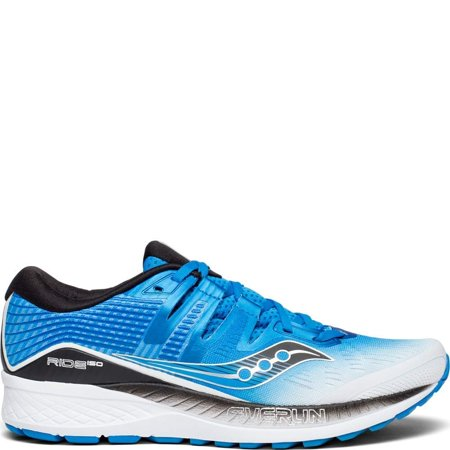 Saucony Mens Ride ISO Neutral Running Shoe Sneakers - White/Black/Blue - Size 9.5 ()