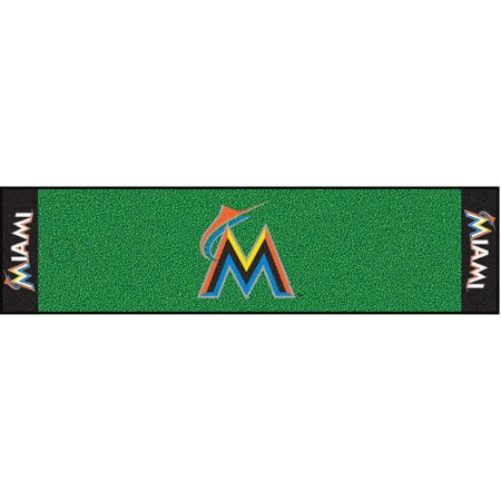 FanMats MLB Miami Marlins Putting Green Mat by