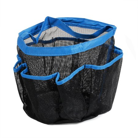 CBD 8 Pockets Portable Mesh Shower Caddy Tote Toiletry Camping Gym Beach Pool Dorm Baby Diaper Bag Makeup Bath Mesh Quick Dry Rustproof Bath Organizer Bathroom Travel Gym Camping