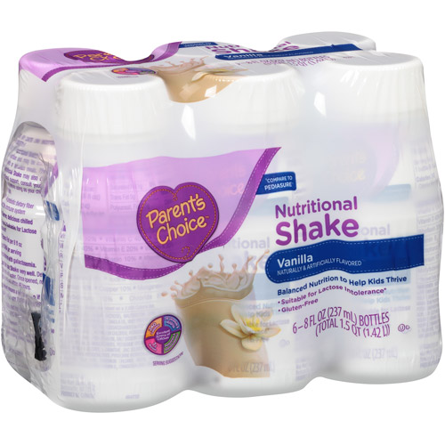 Parent's Choice Vanilla Nutritional Shake, 8 fl oz, 6 count