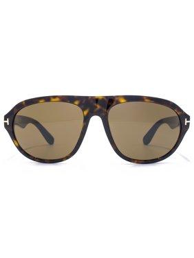 017bcf38cff Product Image Tom Ford FT0397 S 52J IVAN Dark Havana Oval sunglasses