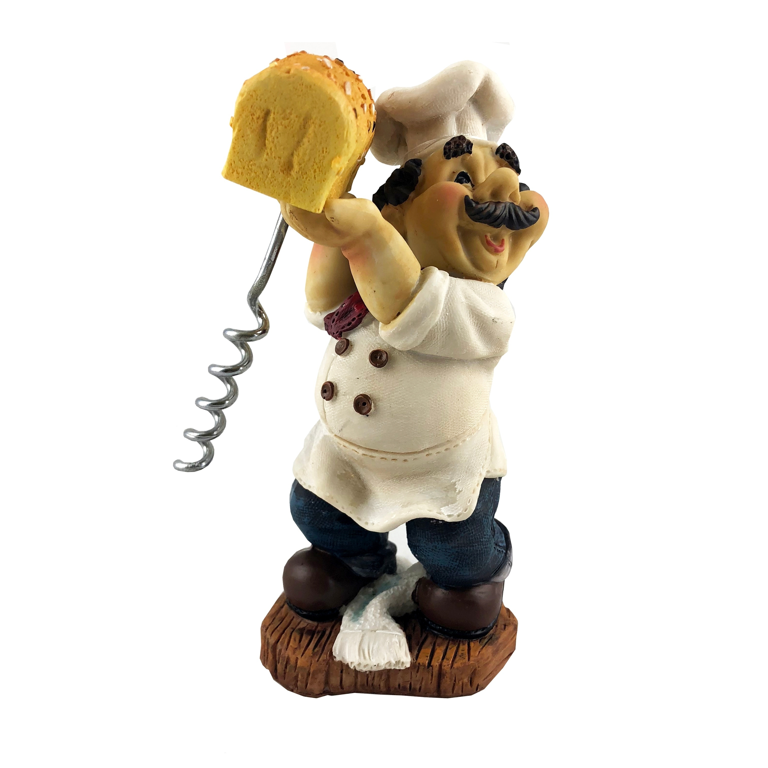 Wine Bodies Fat Chef Italian Baker Holding Bread Figurine Walmart Com
