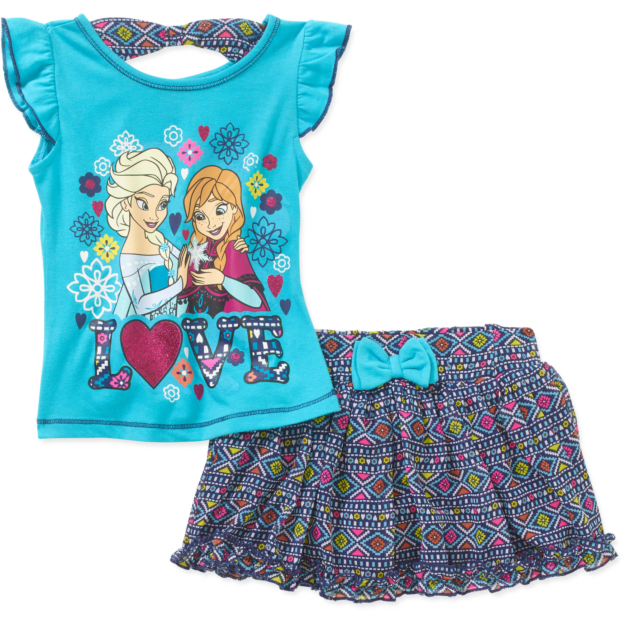 Disney Frozen Toddler Girl Tee and Scooter Set