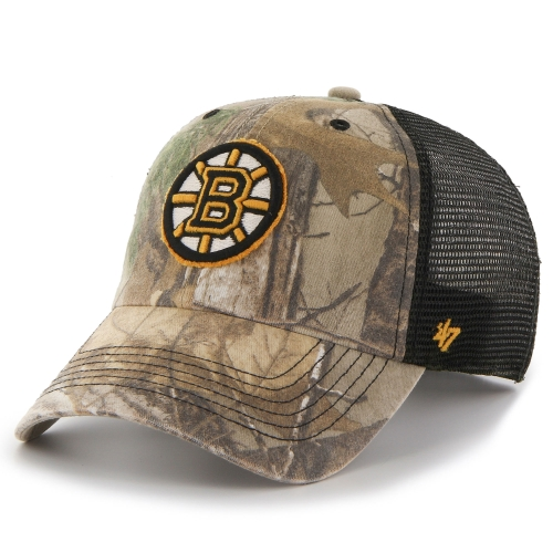 Boston Bruins '47 Huntsman Closer Flex Hat - Realtree Camo