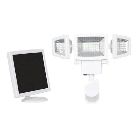 Westinghouse 2000 Lumen Triple Head Solar Security Light, Wireless Motion Activated Kit (White Finish)