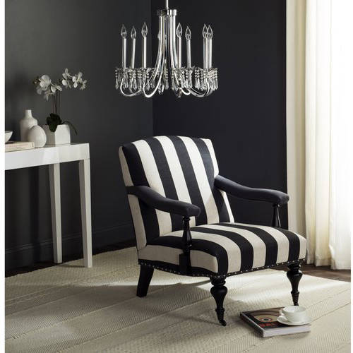 Safavieh Devona Arm Chair with Silver Nail Heads