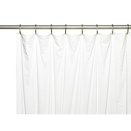 Royal Bath Extra Long 5 Gauge Vinyl Shower Curtain Liner With Metal Grommets In White Size 72 Wide X 78