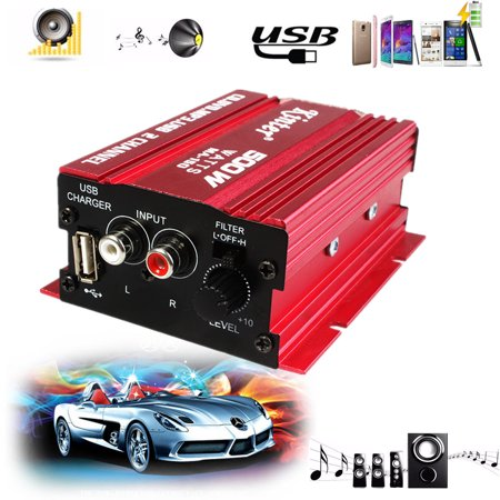 Kinter MA-150 500W 12V Car Stereos 2CH Mini HiFi Stereo Audio Power Amplifier Car MP3 Speaker For Home Motorcycle Boat Computer Speaker