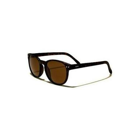Vintage Retro Men Women Round Plastic Frame Sunglasses Glasse Eyewear Black Lens ()