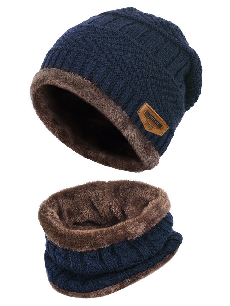 VBIGER Kids Winter Warm Knit Beanie Cap and Circle Scarf Set with Fleece Lining for Children Boys Girls