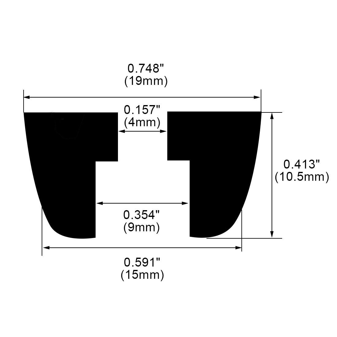 120pcs Rubber Feet Bumpers Amplifier Speaker Desk Cabinet Leg Pads, D15x19xH10.5mm - image 2 of 7