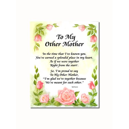 My Other Mother Poem Roses Wall Picture