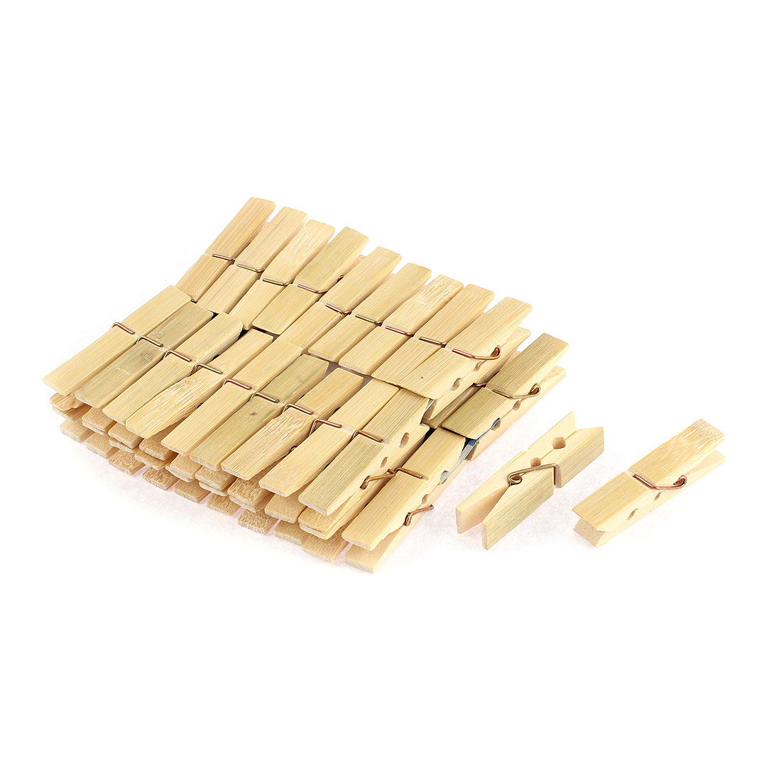Photo Paper Wooden Spring Loaded Socks Clothes Pins Clothespin Clips 40pcs