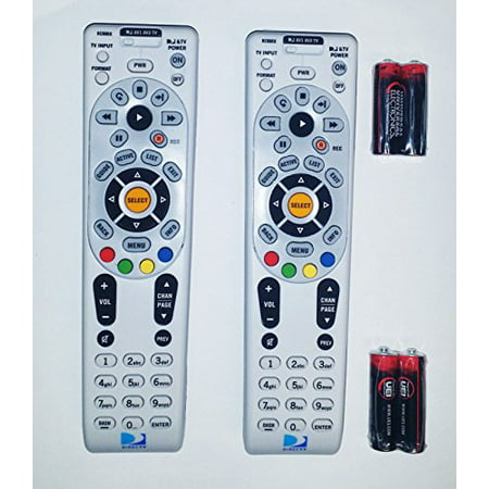 Lot Of Two Remote Controls DIRECTV RC66RX RF Universal Remote Control's W/Batteries Direct