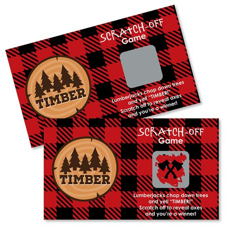 Lumberjack - Channel The Flannel - Buffalo Plaid Party Game Scratch Off Cards - 22 Count](Party City Buffalo)
