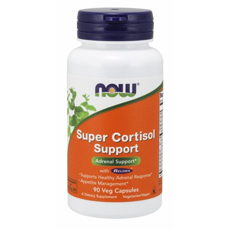NOW Supplements, Super Cortisol Support (Combines Vitamin C, Pantothenic Acid, and Chromium Chelavite® with Relora®), 90 Veg Capsules Womens Menopausal Support 90 Tabs