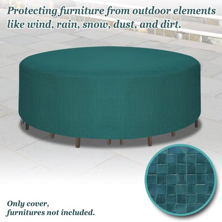 Sunrise Outdoor Garden Furniture Cover, Protection for Round Square Table and Chair Set - Green ()
